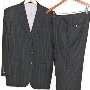 BRIONI Palatino Suit_Gray Pinstripe_41R_Pants36x28